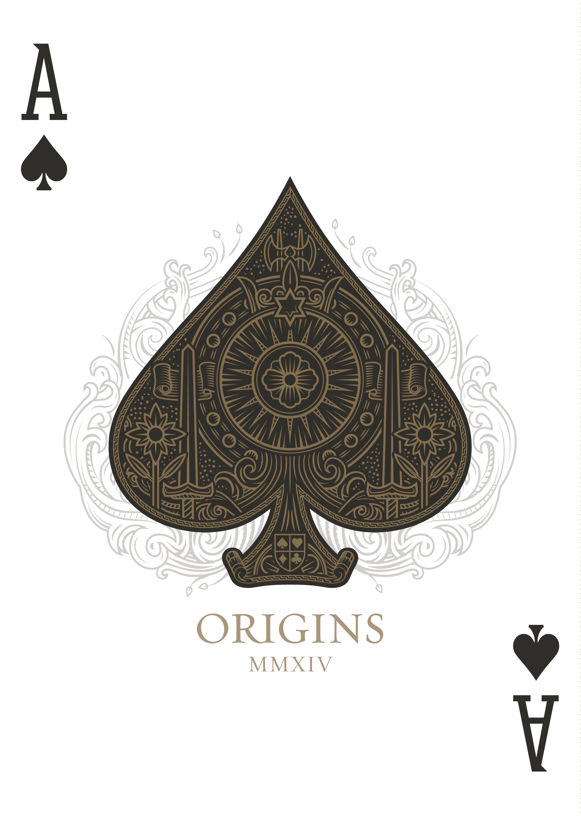 ace of spades origins playing cards. Black Bedroom Furniture Sets. Home Design Ideas