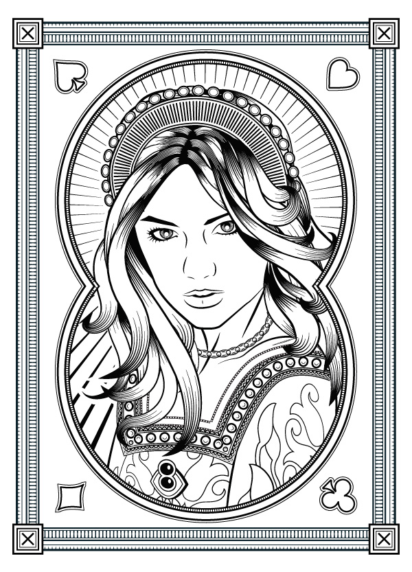 Exploratory Art Queen Catherine Parr Origins Playing Cards