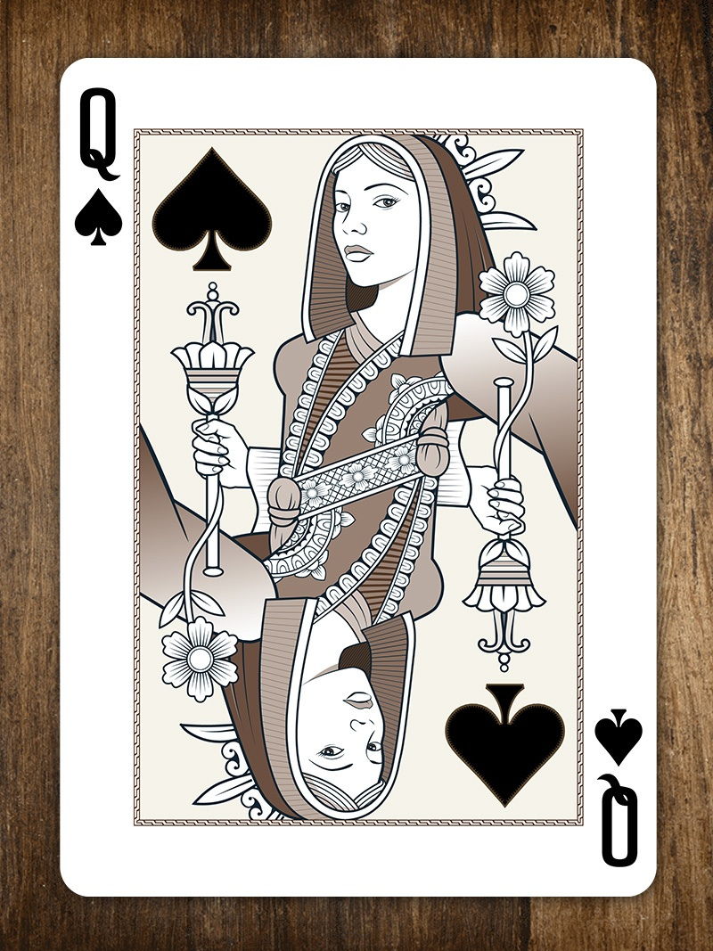 Queen of Spades – Origins Playing Cards